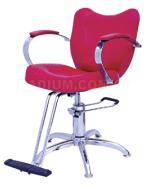 Фризьорски стол с хидравлика, подлакътници и опора за краката - ВБ-3801